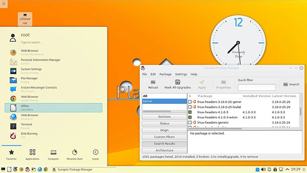 ExTiX KDE option