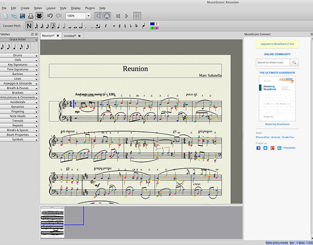 MuseScore's user interface