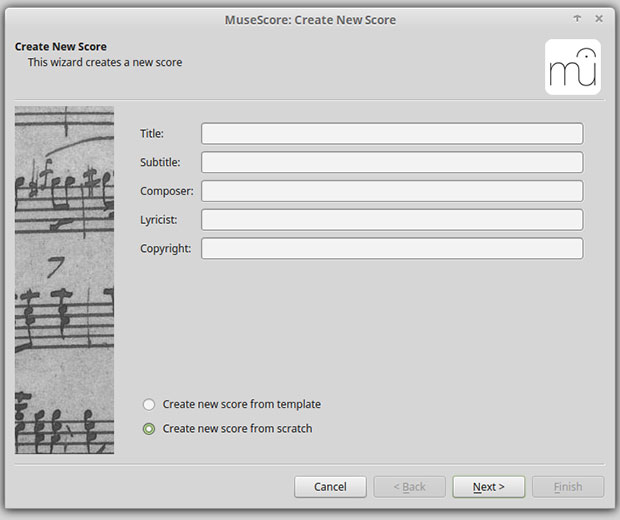 MuseScore wizards