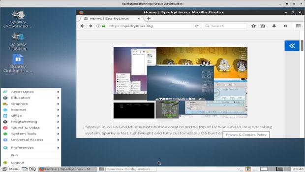 SparkyLinux 4.8 LXDE desktop