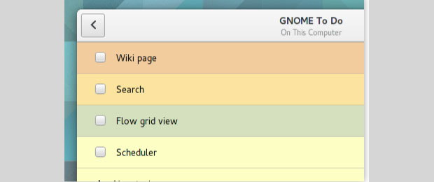 Gnome ToDo interface