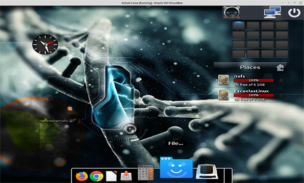 Escuelas Linux desktop screenshot
