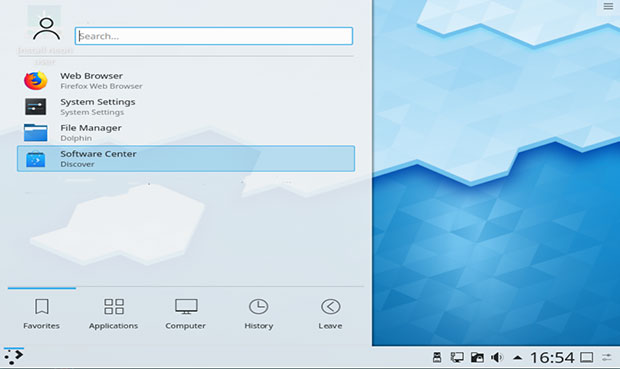 Kde gui package manager