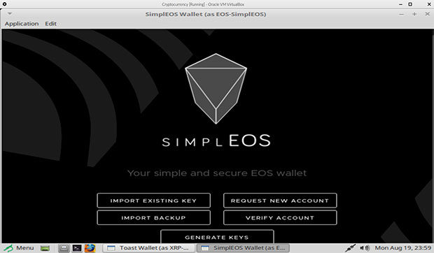 Cryptocurrency OS preconfigured cryptocurrency wallets