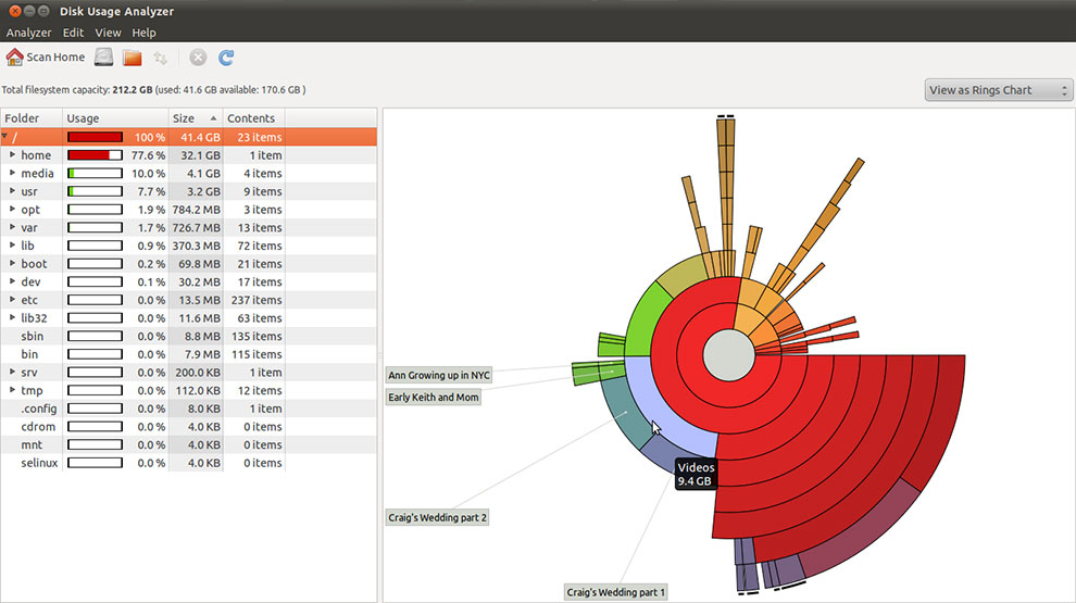 Drive Space Analyzer : Disk usage analyzer has a keen eye for sizing up space