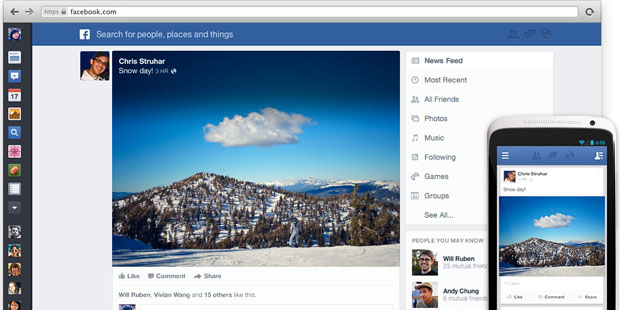Facebook's Redesigned News Feed