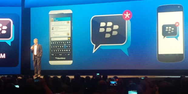 CEO Thorsten Heins at BlackBerry Live