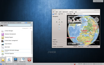 Korora Linux with the KDE 4.10 desktop