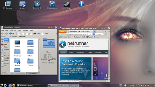 Netrunner Sprints Ahead of the Linux Distro Pack